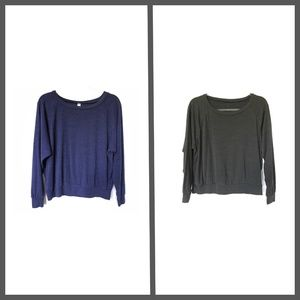American Apparel Knit Batwing Tops, M :010
